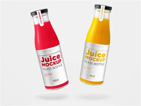 Change its design according to your needs. Free Glass Juice Bottle Mockups | Mockuptree