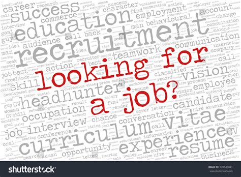 word cloud related to employment and