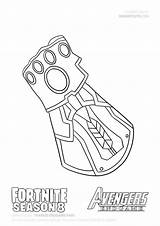 Coloring Thanos Avengers Iron Fortnite Gauntlet Infinity Marvel Drawing Drawings Printable Easy Drawitcute sketch template