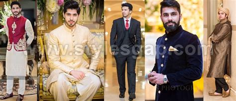 Wedding Dresses For Men : Latest Men Wedding Dresses Mehndi Barat Walima Collection