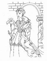 Coloring Pages Princess Medieval Detailed Princesses Adults Colouring Printable Adult Disney Sheets Books Sheet Prince Queen Flowers Even Castle Enjoy sketch template