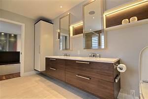 Armoire De Salle De Bain : awesome vanite salle de bain moderne contemporary ~ Dailycaller-alerts.com Idées de Décoration