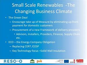 Welcome....Small Scale Renewables - by David Terry