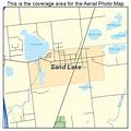Aerial Photography Map of Sand Lake, MI Michigan
