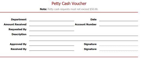 petty cash voucher sample layouts
