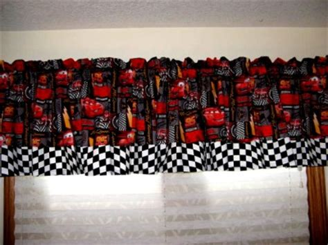Checkered Flag Curtains Uk by Disney Cars Checkered Flag Speed Patch Curtain Valance Ebay