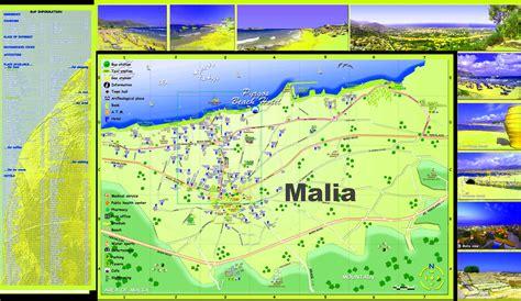 malia tourist map