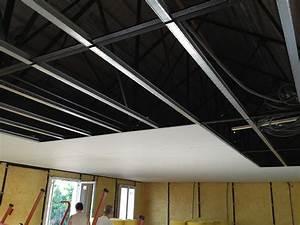Pose Rail Placo Plafond : photos pose du placo ma maison phenix ~ Dailycaller-alerts.com Idées de Décoration