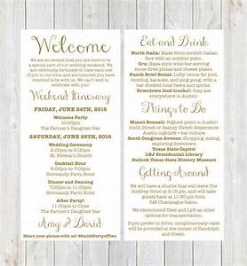 welcome letter weekend itinerary wedding itinerary gold With sample wedding welcome letter