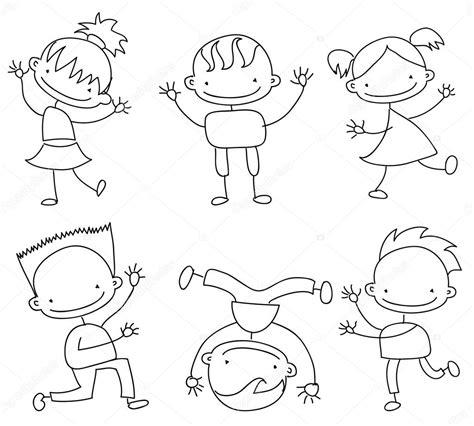 immagini di bambini felici bambini felici doodle vettoriali stock 169 virinaflora