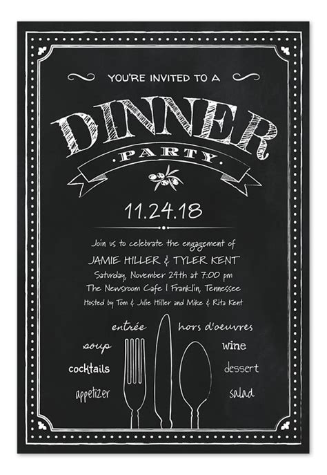 Chalkboard Dinner Party  Party Invitations By Invitation. Live Album Covers. Youtube Banner Art. Womens Prayer Breakfast. Best Photo Invoice Template. Simple Invoice Template Pdf. Router Lettering Template Set. National Society Of Leadership And Success Graduation Cords. Birthday Banner Template
