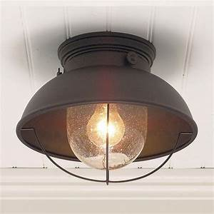 Nantucket ceiling light available in colors antique
