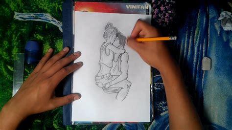 dibujando  una pareja dibujos  lapiz youtube