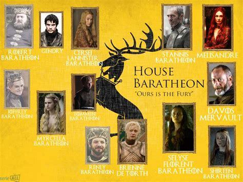 maisons of thrones les personnages et les diff 233 rentes maisons de of thrones s 233 rie all