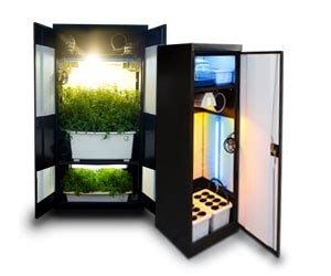 Hydro Closet by Grow Cabinet Stealth Hydroponic Growing Cabinets