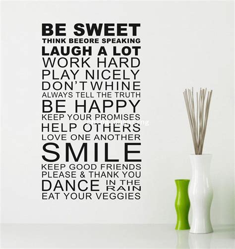 be sweet smile quote wall art stickers words home decor wall stickers sayings alibaba express