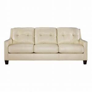 cream leather sofas divani casa suzanne clic cream leather With cream leather sofa bed