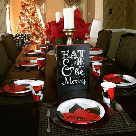 budget christmas dinner table setting centerpieces