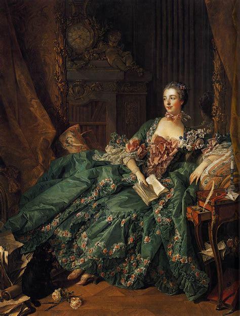portrait of marquise de pompadour bust of madame pompadour afeter boucher paints