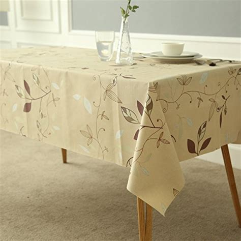 tablecloth fancy table water proof vinyl linens mildew rectangular picnic fix waterproof leaves heavy weight oil inch