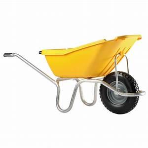 Brouette 2 Roues Brico Depot : brouette 1 roue increvable 110 l caisse polypro jaune ~ Nature-et-papiers.com Idées de Décoration