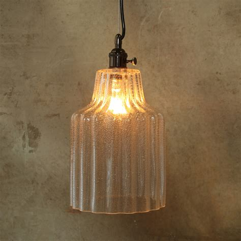 large stina clear glass pendant light by homart seven