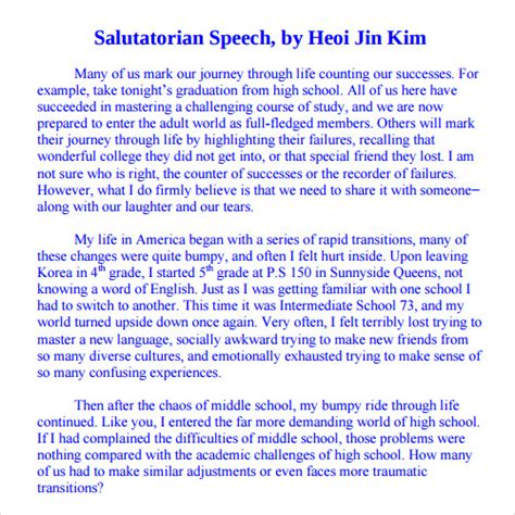 informative speech exles for highschool students 23 sle speech exles pdf sle templates