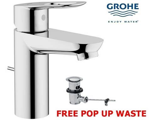 Grohe Bauloop Modern Mono Basin Bath Bathroom Sink Mixer