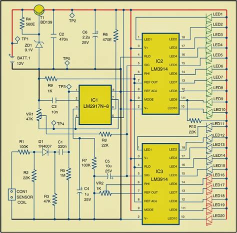 Rpm Meter For Automobiles Circuit Diagram Electronic