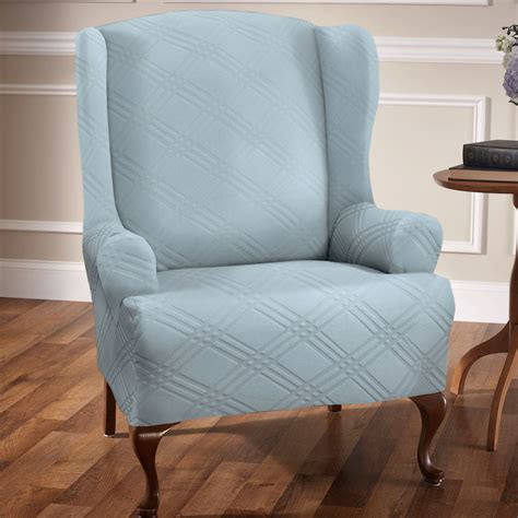 wing chairs slipcovers stretch wing chair slipcovers