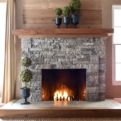 fireplace gravel airstone fireplace makeover make life lovely
