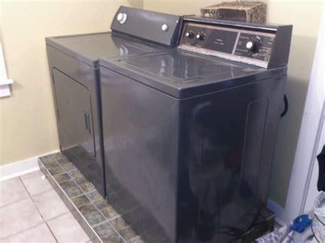 repainted washer  dryer   rustoleum enamel
