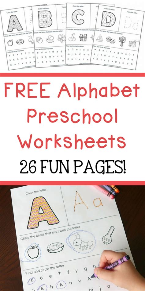 free alphabet preschool printable worksheets to learn the 458 | FREE Homeschool