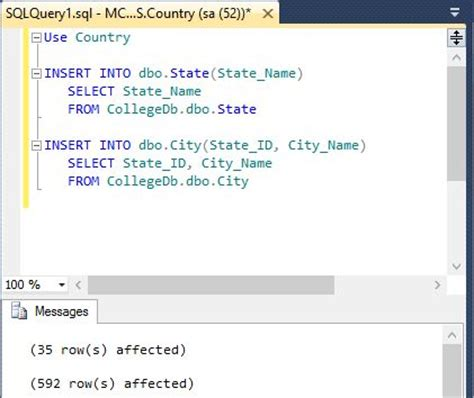 sql insert into new table insert values from one database table to another database