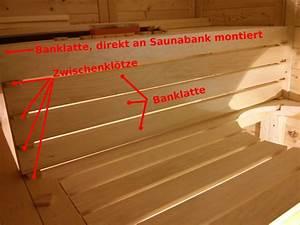 Sauna Selber Bauen Anleitung Pdf : die r ckenlehnen und die bankverblendungen ~ Lizthompson.info Haus und Dekorationen