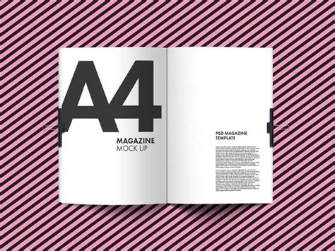 Photorealistic magazine mockup from graphicburger. Free A4 Magazine Mockup PSD - Free Download