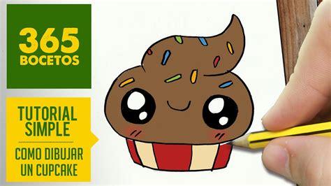 como dibujar un cupcake kawaii paso a paso dibujos kawaii faciles