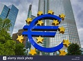 EU, Euro, Frankfurt, Germany, Europe, bank, blue, business ...