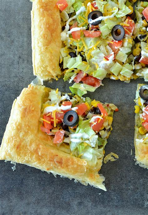 Easy Puff Pastry Taco Pizza Vegetarian Puff Pastry Taco Pizza