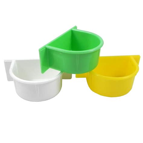 cuisine cup parrot food and water cup plastic bird dishes and bowls