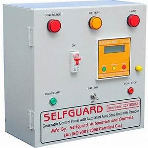 Selfguard Single And Three Generator Control Panel With