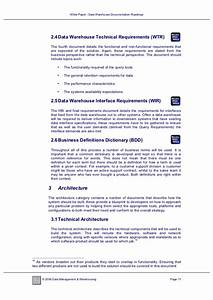white paper data warehouse documentation roadmap With data warehouse business requirements template