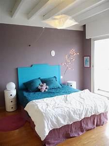 deco chambre violet et bleu ciabizcom With association de couleurs avec le gris 16 1001 idees pour une chambre bleu canard petrole et paon