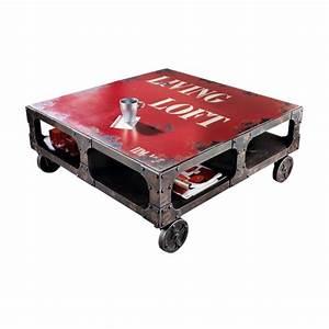 Vintage Industrial Möbel : industrial m bel couchtisch mit rollen versandkostenfreie m bel online bestellen ~ Bigdaddyawards.com Haus und Dekorationen