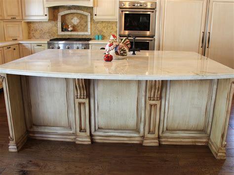 large country kitchen island  quartzite countertop hgtv
