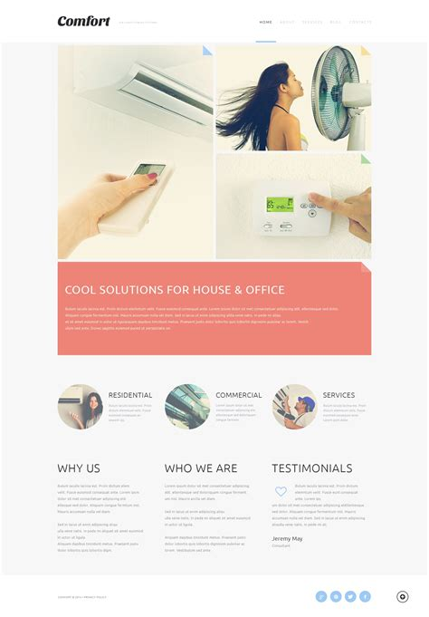 air joomlsa template air conditioning systems joomla template 50487