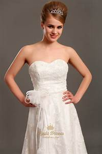 ivory lace strapless sweetheart wedding dresses vintage With ivory lace wedding dress