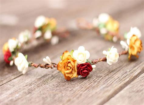 Bridal Flower Hair Crown Flower Crown Burnt Orange