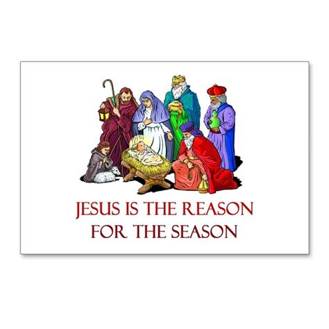 christmas jesus is the reason for the season postc by