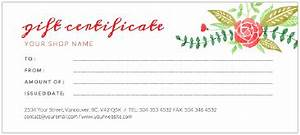 design your own gift certificate templates free gift ftempo With photoshoot gift certificate template